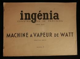 ( Enfantina Découpage ) INGÉNIA Pélican Blanc LA MACHINE A VAPEUR DE WATT 1936 - Andere