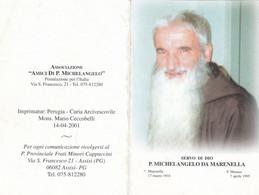 Santino Servo Di Dio P.michelangelo Da Marenella - Imágenes Religiosas