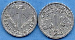 FRANCE -  1 Franc - 1942 - H. 1 Franco