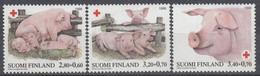 +M664. Finland 1998. Red Cross Charity. Domestic Animals. Pigs. Michel 1427-29. MNH(**). - Ongebruikt