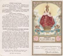 Antico Santino Confraternita Del Santo Bambino Di Praga - Imágenes Religiosas