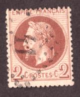 Napoléon III Lauré N° 26A Rouge-brun - Oblitération GC 11 Agde (Hérault) - 1863-1870 Napoléon III Con Laureles