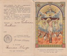 Antico Santino Confraternite E Pie Unioni Del Prezioso Sangue - Imágenes Religiosas