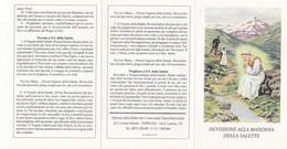 Santino Devozione Alla Madonna Della Salette - Devotion Images