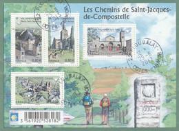 FRANCE 2013 BLOC OBLITERE LES CHEMINS DE COMPOSTELLE  F4725 - F 4725 - Sheetlets