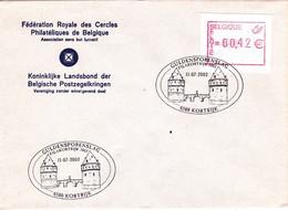 B01-188 Fdc Va 0.42 8500 Kortrijk - Vignette Atm 11-07-2002 - Frankeervignetten