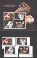 F180 2012 NIUAFO'OU FAUNA BIRDS OWLS 1KB+1SET !!! MICHEL 220 EURO MNH - Eulenvögel