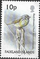 Falkland Islands 2003 Birds - 10p - Black-throated Finch MNH - Falklandeilanden