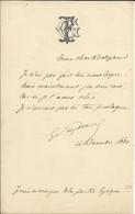 FEYDEAU Georges (1862-1921). Auteur Dramatique Français. (fils De Ernest Feydeau) . 2 B.A.S. Dont 1 Daté De 1880. - Autógrafos