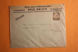 BUCH- UND KUNSTHANDLUNG PAUL BRUCK,LUXEMBURG.BÜCHERZETTEL. - 1940-1944 Deutsche Besatzung