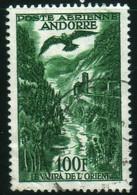 Andorre 1955 Le Valira De L'orient Aigle PA N° 2 Oblitéré V. Explic - Airmail