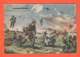 Cpa Parà Folgore Viaggiata 1943 Dal Comando Genio In Grecia X Centro Sanità Di Este Pd - Guerra 1939-45