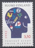 +M657. Finland 1992. Healthy Brains. Michel 1167. MNH(**). - Ongebruikt