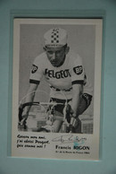 CYCLISME: CYCLISTE : FRANCIS RIGON - Cyclisme