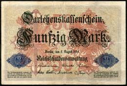 Deutsches Reich,1914,P.49a  12.08.1914, 50 Mark,as Scan - 50 Mark