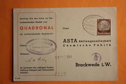 "POSTKARTE MIT BAHNPOSTSTPL. ""LUXEMBURG-ULFLINGEN"". - 1940-1944 Duitse Bezetting"