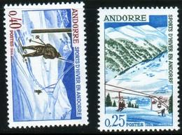 Andorre 1965 Sports D'hiver Ski N° 175 176 Neuf Sans Charnière MNH TB - Nuevos