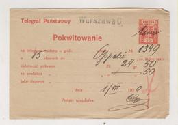 POLAND WARSZAWA Nice Postal Document 1920 - Briefe U. Dokumente