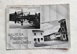 Cartolina Illustrata Saluti Da Palazzolo Dello Stella - Vedute Diverse, Viaggiata Per Ferrara 1955 - Saluti Da.../ Gruss Aus...