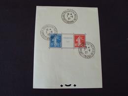 "1927 - Bloc N° 2 A  - Cachet Témoin Expo; Phil.internationale "" Strasbourg 7.6.1927"" Charnières  -   Net      400 Euros - Sheetlets"