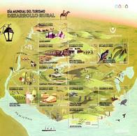 URUGUAY MNH 2020 Amethyst Ecotourism Mill Bird Mountaineering Bike Treeking Fishing Cheese Wine Olive Oil Horse Turtle - Milieubescherming & Klimaat