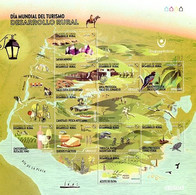 URUGUAY MNH 2020 Amethyst Ecotourism Mill Bird Mountaineering Bike Treeking Fishing Cheese Wine Olive Oil Horse Turtle - Cyclisme