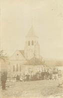 77 GERMIGNY SOUS COULOMBS Groupe Devant L'église CARTE PHOTO 1907 - Andere Gemeenten