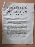 Parchemin Ancien - Déclaration Du Roy Qui Continue Les Défenses Aux Nouveaux Convertis, Etc... - 1717 - Achat Immédiat - Historische Dokumente