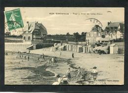 CPA - CONCARNEAU - Plage Et Hôtel Des Sables Blancs, Animé - Concarneau