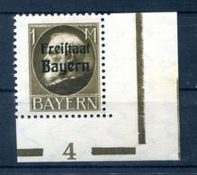 Bayern 165 Plnr Mit PLATTENNUMMER ** POSTFRISCH (10293 - Bayern (Baviera)