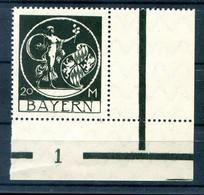 Bayern 195 PlNr Mit PLATTENNUMMER ** POSTFRISCH (H9969 - Bayern (Baviera)