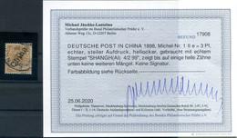 China 1IIe FARBE Gest. BPP Befund 600EUR (H9021 - Oficina: China