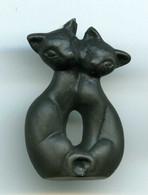 FEVES - FEVE - COUPLE DE CHATS NOIRS - MAT - Animales