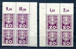 Danzig PORTO 2 ECKRANDVIERERBLOCK ** POSTFRISCH (H8904 - Dantzig