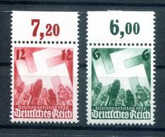 DR-3.Reich 632/33 OR Mit FALZ Im OR,Marken Tadellos ** POSTFRISCH (H9544 - Ungebraucht