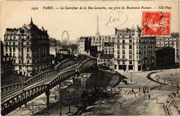 CPA Paris 15e - La Carrefour De La Rue Lecourbe (79552) - Arrondissement: 15