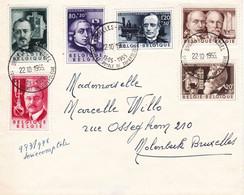 B01-189 BELGIQUE - N° 973 978 Oblitération 22-10-1955 Année 1955 Série Culturelle Les Inventeurs - 1951-60