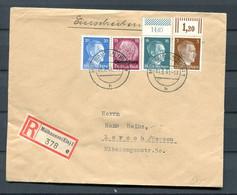 Elsass Ländermischfrankatur DR+Luxemburg Auf Einschreiben Im Elsass (H7891 - Alsazia-Lorena