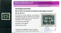 GG 38I ABART ** POSTFRISCH+gepr. BEFUND 80++EUR (H8487 - Occupazione 1938 – 45