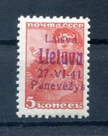Litauen PONEWESCH 4c LUXUS ** POSTFRISCH 22EUR (H8346 - Occupation 1938-45