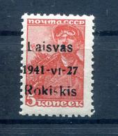 Litauen ROSKISKIS 1aI Tadellos ** POSTFRISCH BPP 16EUR (78023 - Occupation 1938-45