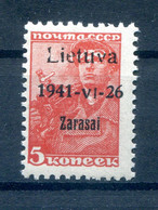 Litauen ZARASAI 1aI Tadellos ** POSTFRISCH BPP 25EUR (78028 - Besetzungen 1938-45