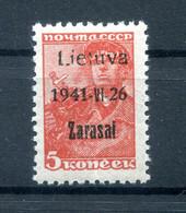 Litauen ZARASAI 1aIIA Tadellos ** POSTFRISCH BPP 55EUR (78026 - Besetzungen 1938-45