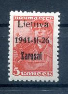 Litauen ZARASAI 1aIIB Tadellos ** POSTFRISCH BPP 50EUR (78027 - Besetzungen 1938-45