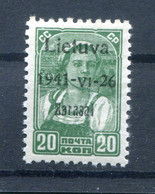 Litauen Zarasai 4aI LUXUS ** POSTFRISCH (H8351 - Besetzungen 1938-45