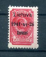 Litauen ZARASAI 7aI Tadellos ** POSTFRISCH BPP 90EUR (78015 - Besetzungen 1938-45