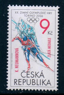2006 Czech Republic Winter Olympic Games, 1 Stamp With Overprint MNH - Inverno2006: Torino
