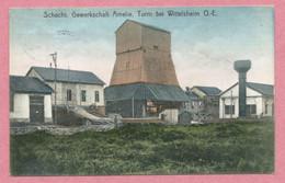 68 - WITTELSHEIM - Mines De Potasse D' Alsace - AMELIE - Puits De Mine - Schacht - Turm - 2 Scans - France