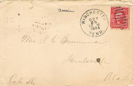37859. Carta WINCHESTER (Tenn) USA 1904. Gride To Huntsville - Vereinigte Staaten