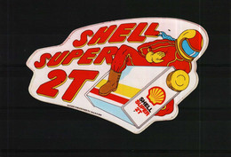 Autocollant   -    SCHELL SUPER 2 TEMPS - Pegatinas